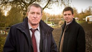 John Nettles and Jason hughes cast from Midsomer Murders television program